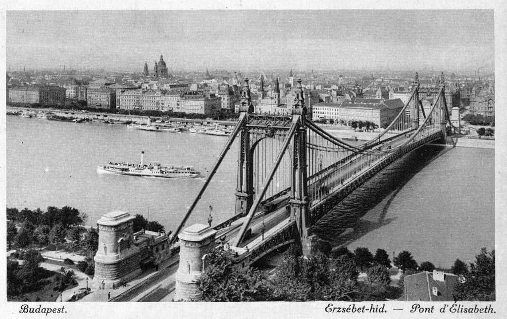Old pictures of Budapest - Elisabeth Bridge
